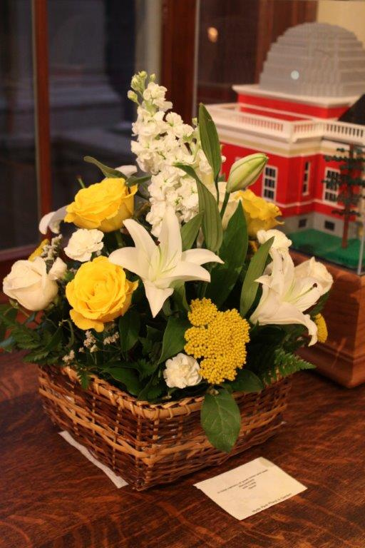 flowers sent from David DeVorkin, with Lego model of the Cincinnati Observatory
