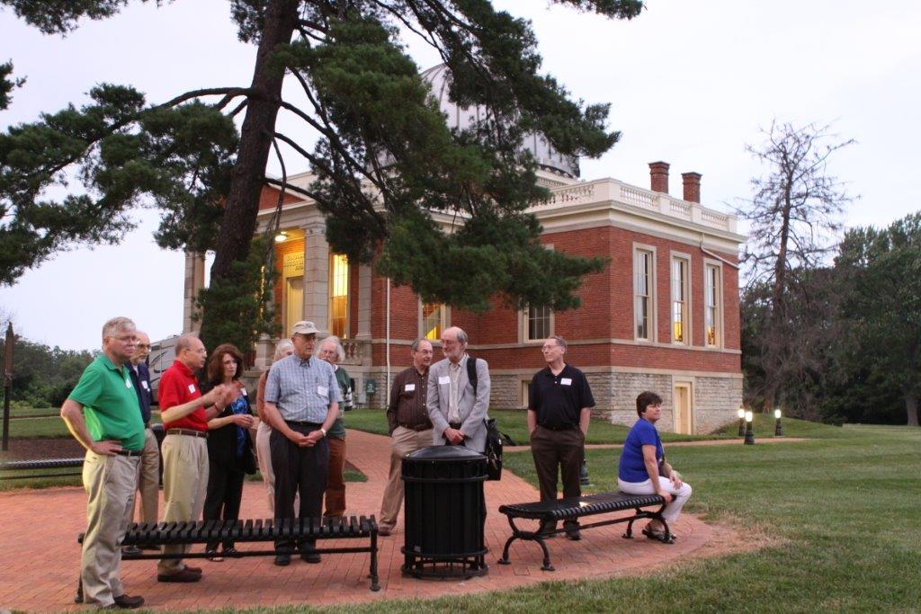 John Ventre leading tour of the Cincinnati Observatory