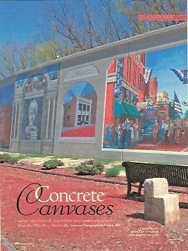 Concrete Canvases Ohio magazine April 2010 - about amazing murals painted on floodwalls along the Ohio River