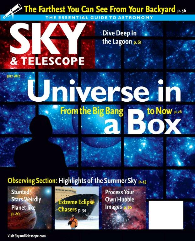"article title is actually ""Universe on Fast Forward,"" on the Bolshoi cosmological simulation, and how supercomputer modeling is transforming cosmology from an observational science into an experimental science, Sky & Telescope July 2012"