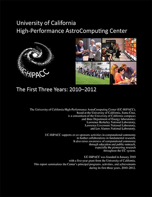 UC-HiPACC 3-year report 2010-2012; I drafted text, took many of the photos, and designed the 8-page layout