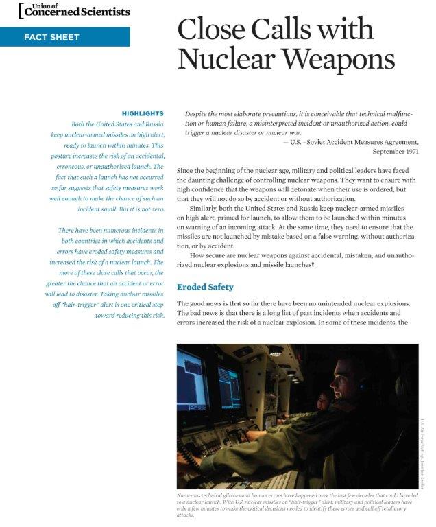 edited mini-report on Close Calls with Nuclear Weapons, published April 2015