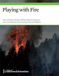 on the growing costs of western wildfires in a warming world; edited text and bibliography; suggested main title; published July 2014