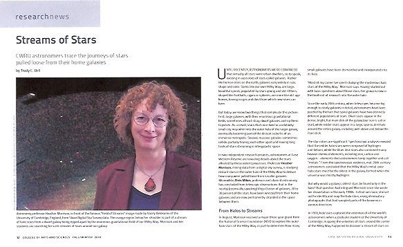 artsci Winter 2010 - Case Western Reserve U's alumni magazine - profile of two Case astronomers and their fascinating research on stars stranded between galaxies, both around the Milky Way and in the Virgo cluster