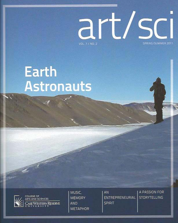 Case Western Reserve University alumni magazine art/sci srping/summer 2011 - wrote cover story profile of Ralph P. Harvey, head of the Antarctic Search for Meteorites (ANSMET)
